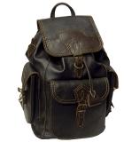 Рюкзак кожаный Unileather 3КБ КДК коричневый